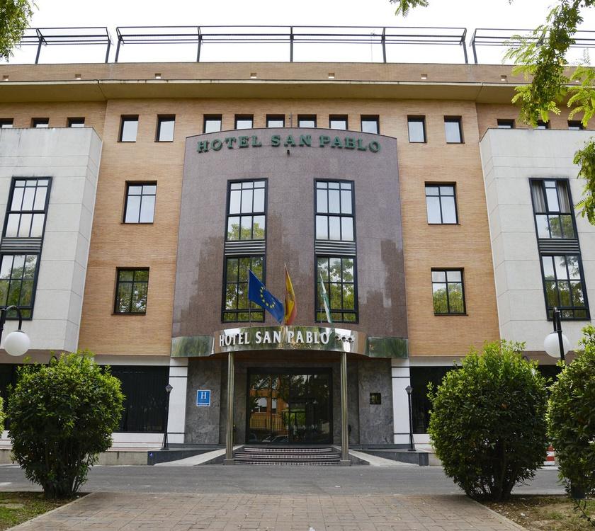 Fasad Hotel San Pablo Sevilla Hotel San Pablo Sevilla Sevilla